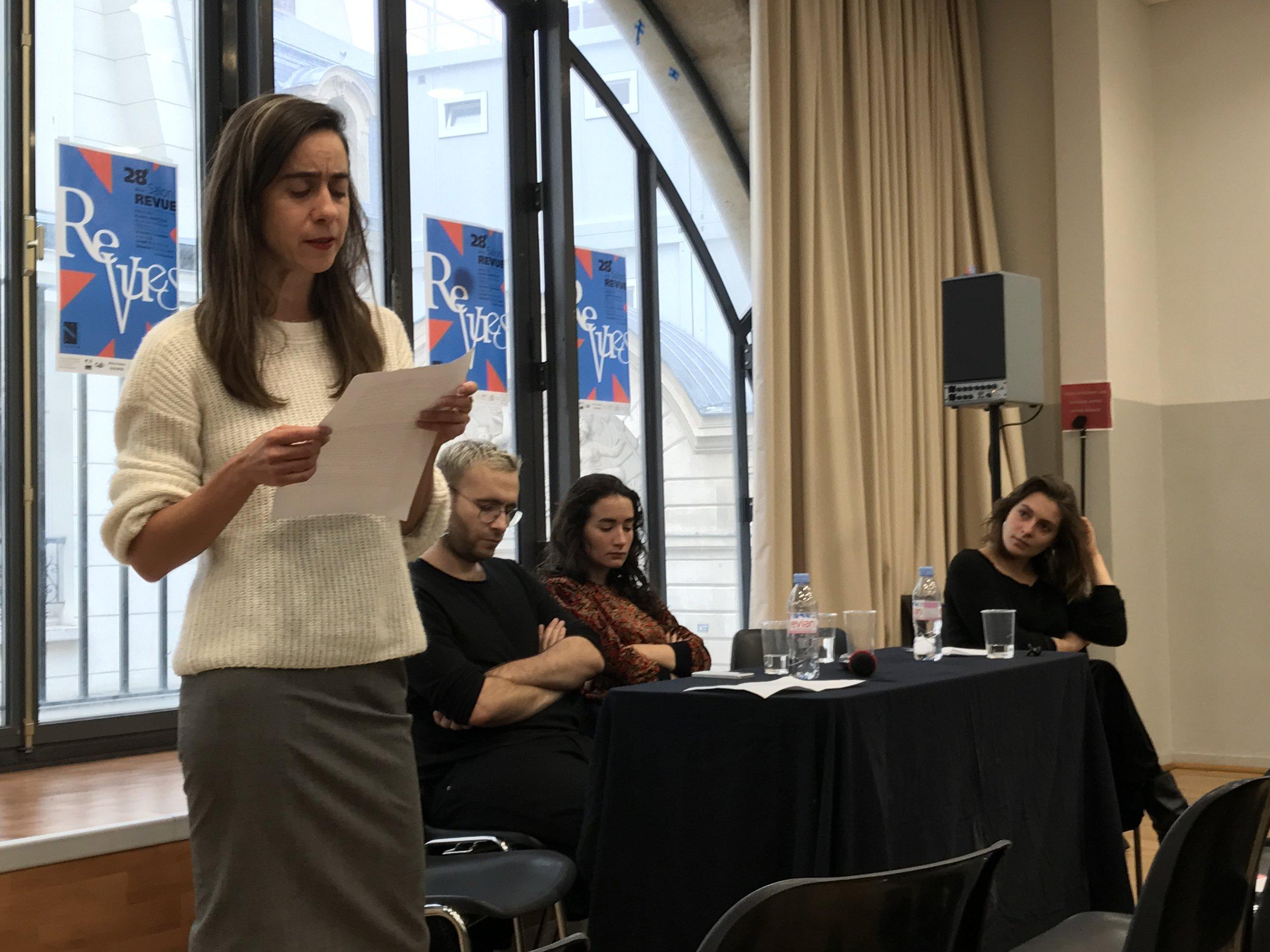 Lecture  Les seins blancs , table ronde : Inséminer l'imaginaire, Salon de la revue, octobre 2018.