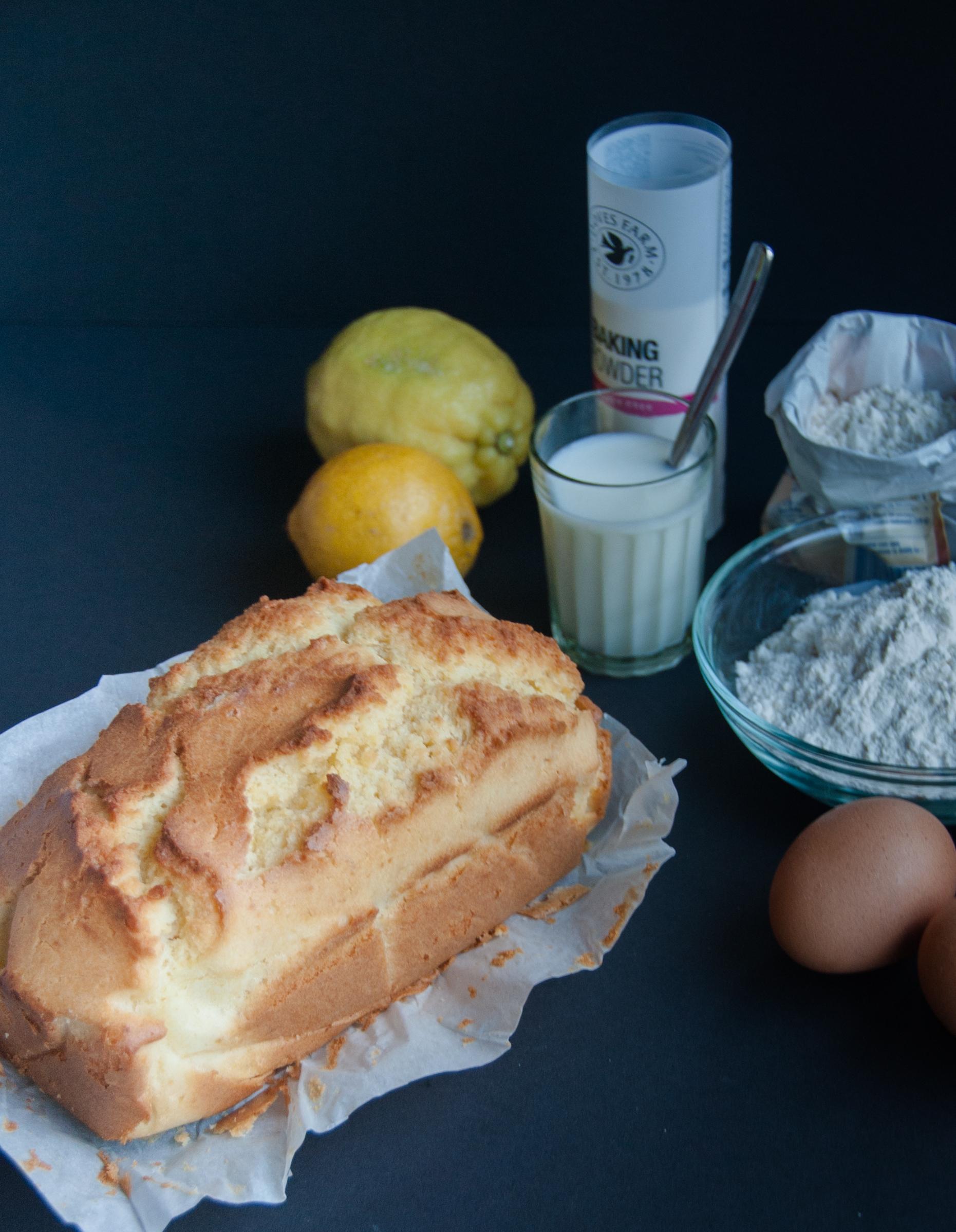 Quick and easy weekday lemon cake