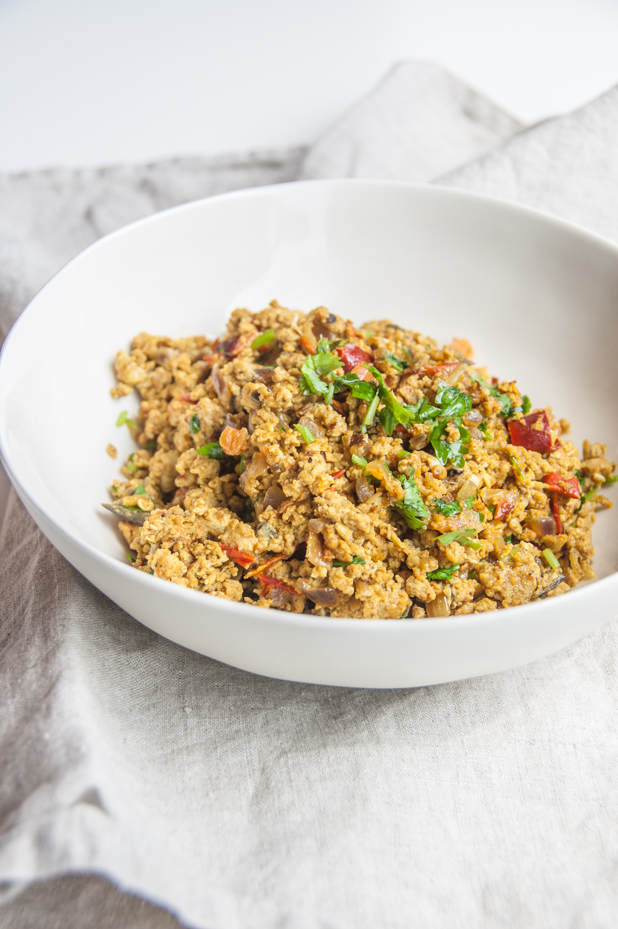 A classic Indian scrambled eggs with cumin based spices, and lots of love!