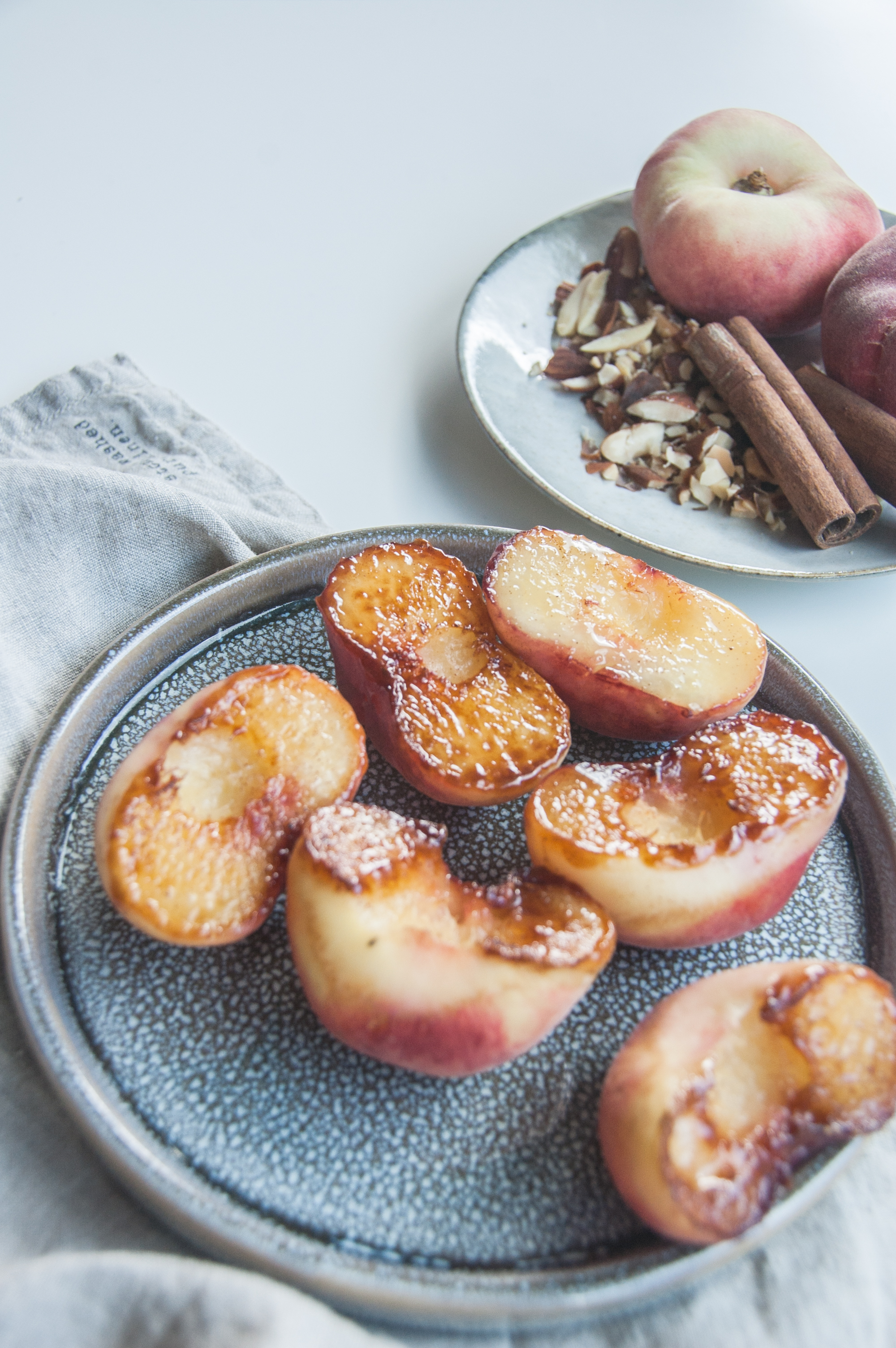 caramelized peach porridge makes a bowl of pure comfort and joy.