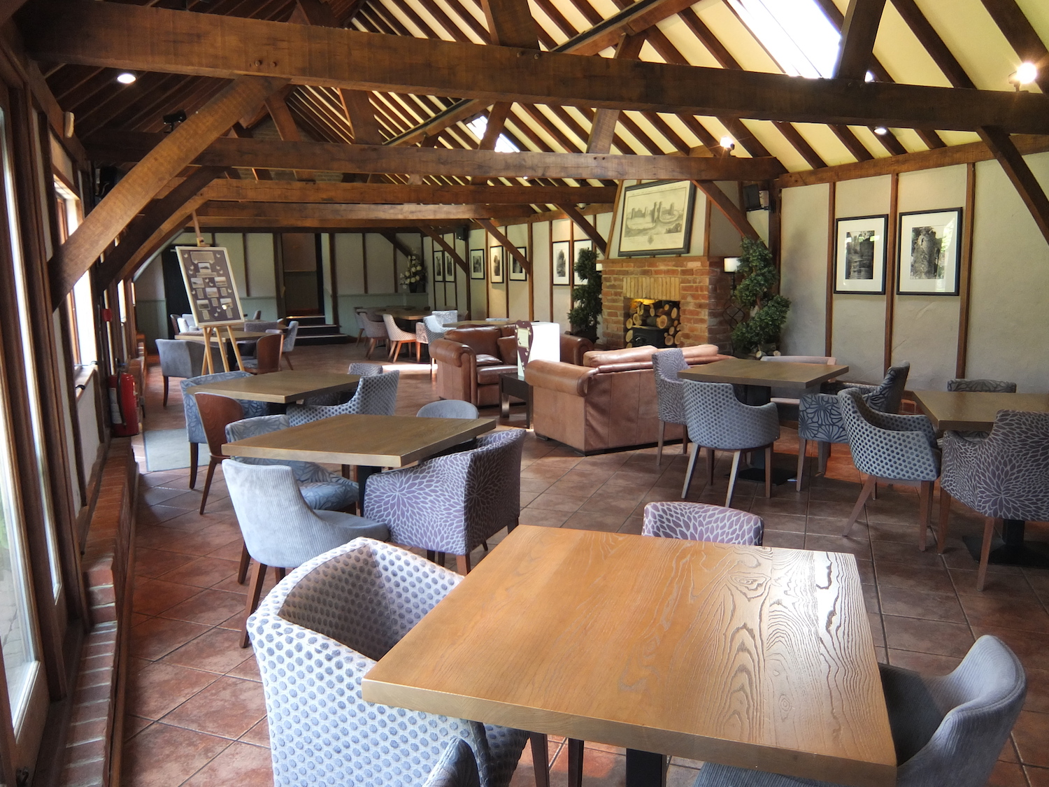 Inside of Heritage Barn used for guest arrival & breakfast service