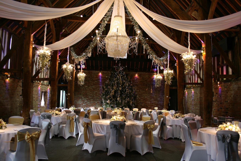 Christmas Wedding.Christmas Weddings Cooling Castle Barn