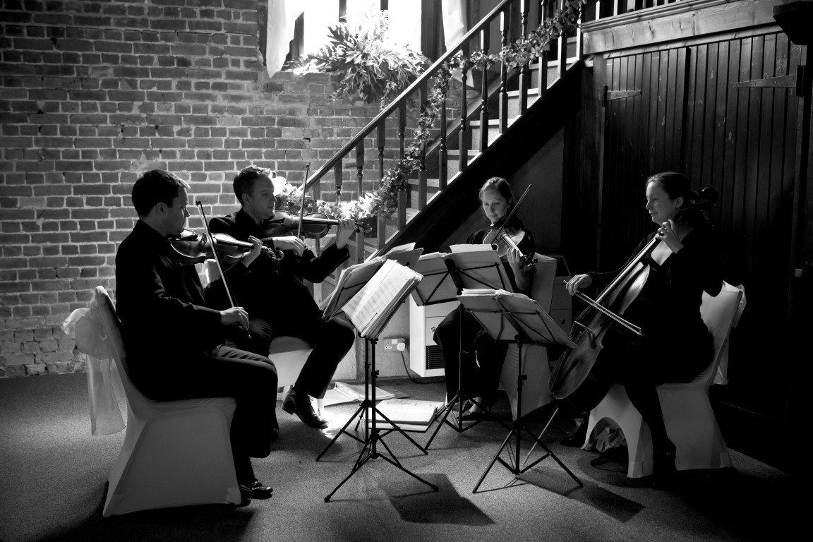 String quartet from the back of the fathom barn