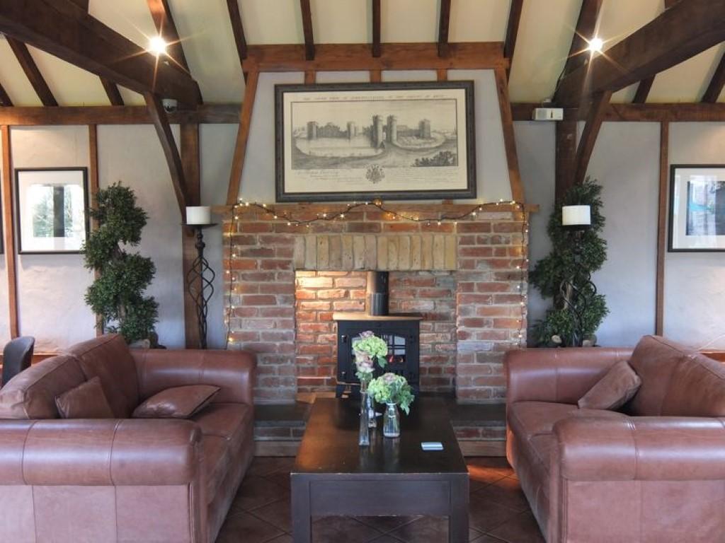 fireplace in Heritage barn