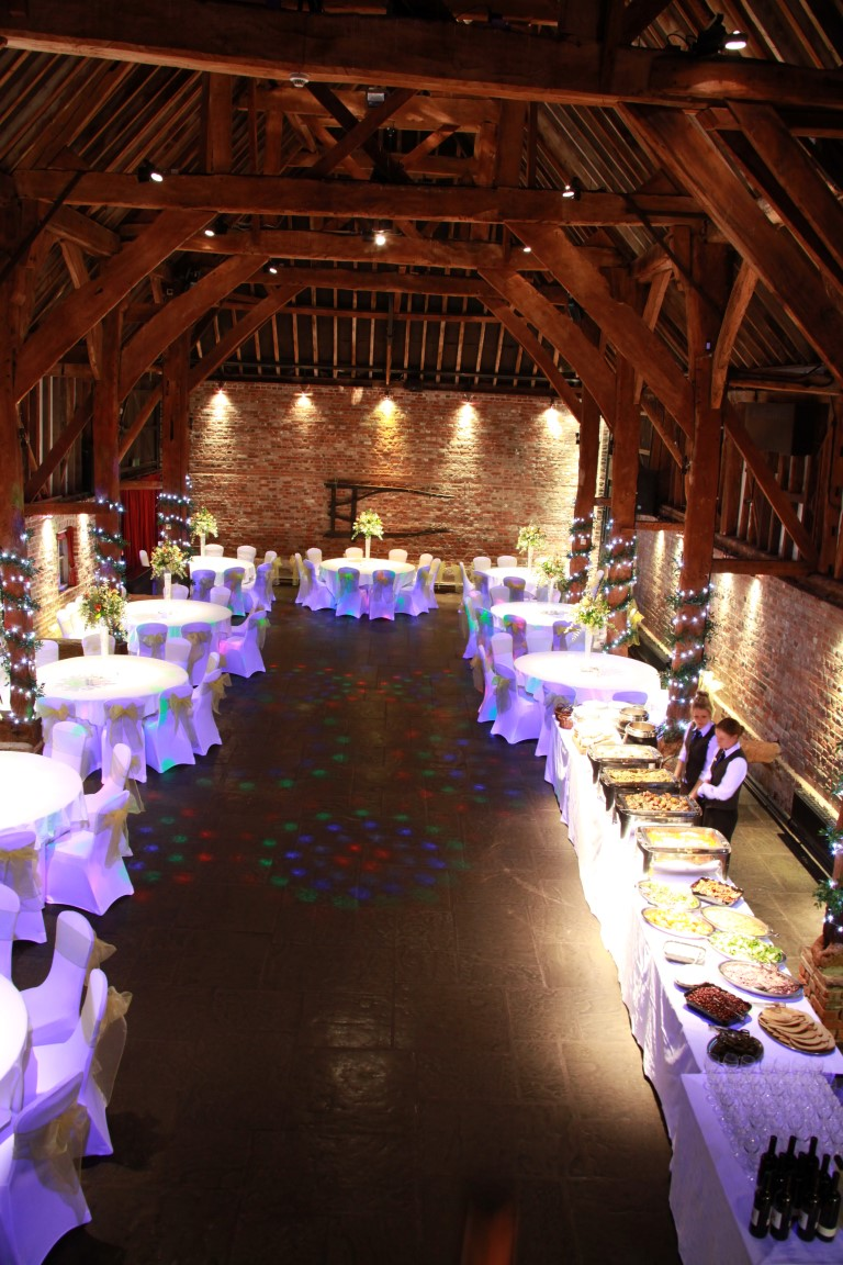 Tithe Barn laid out for evening party