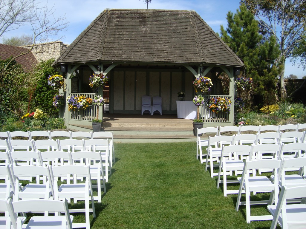 Wedding Pavilion ready for outside ceremony