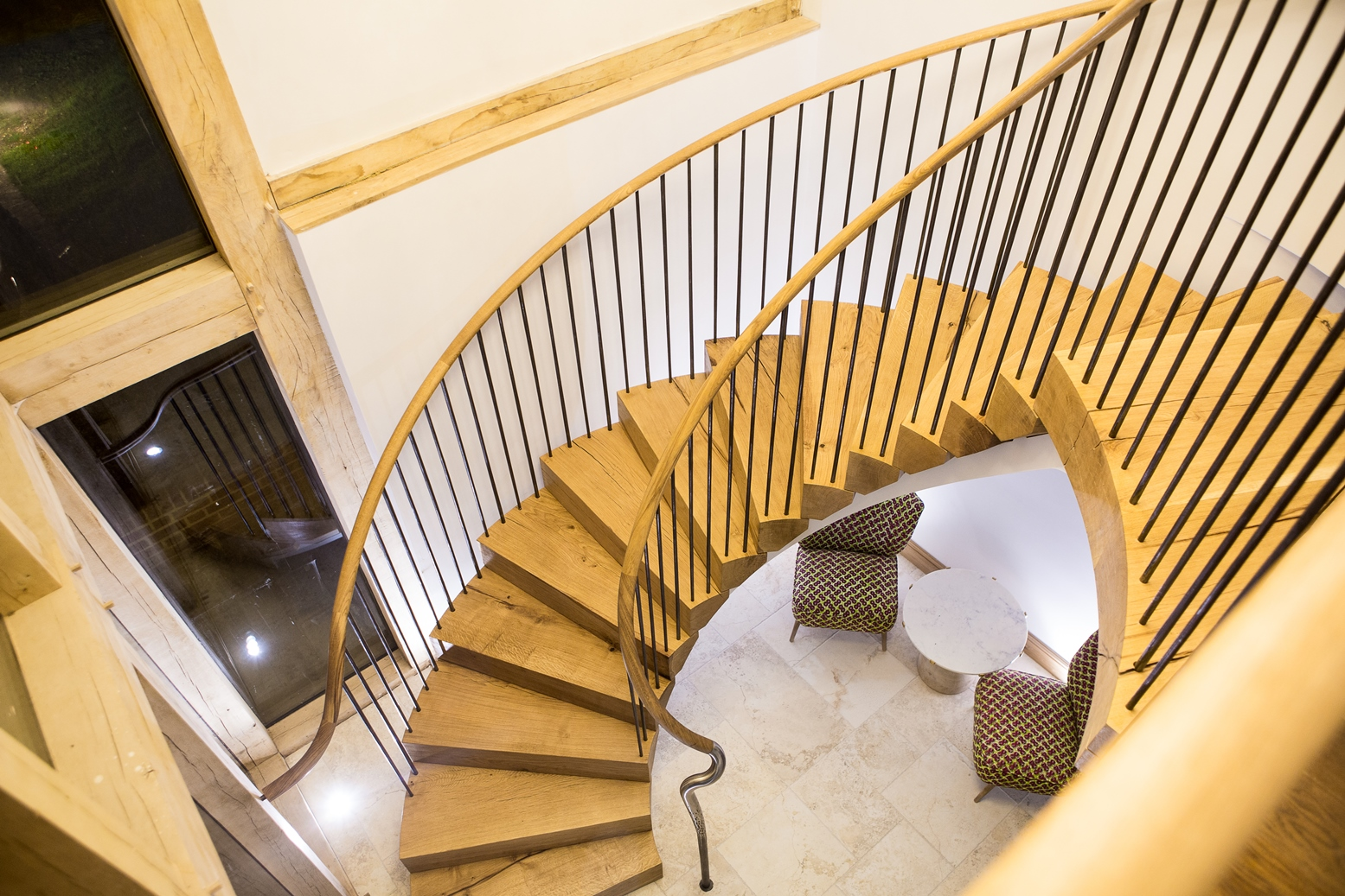 Dressing Room helical staircase