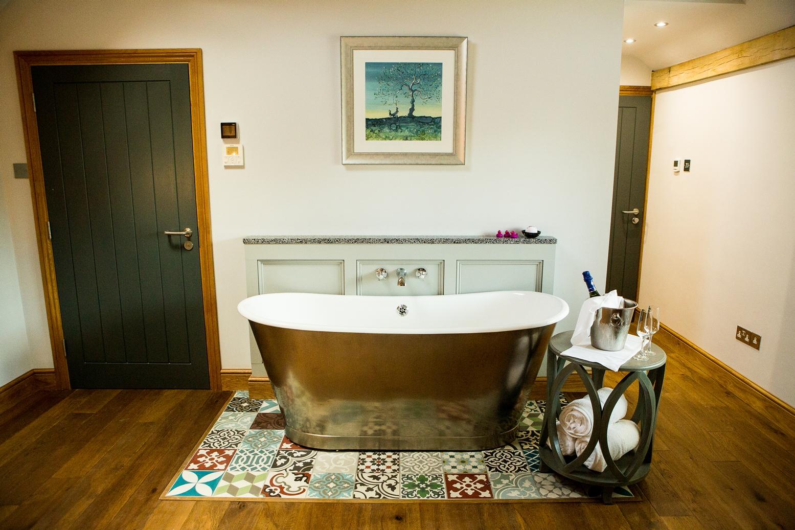 freestanding bath in master suite