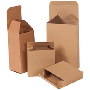 Natural brown kraft folding cartons small parts chipboard boxes
