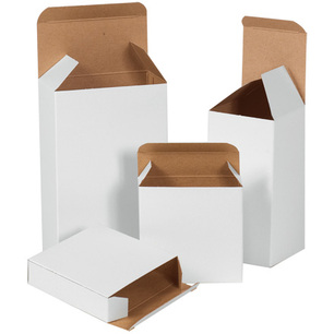 White RTE reverse tuck small boxes folding cartons