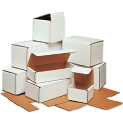 Tuck top white corrugated boxes - Click to order