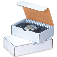 White literature shipping mailers