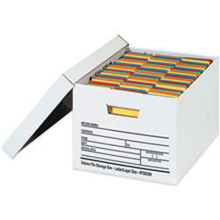 Auto lock bottom office file boxes