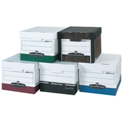 Assorted colors accounting file storage boxes