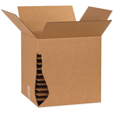 Corrugated cardboard layer pads for layering shipping