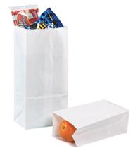 White paper sacks