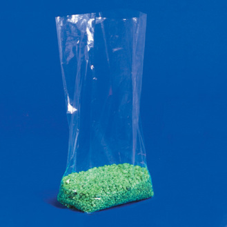 Clear gusseted polyethylene bag