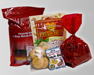Custom printed stand up food pouches