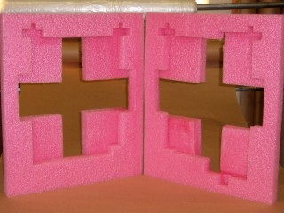 Pink Anti-Static Foam - Die cut inserts inner packaging foam