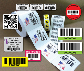 Logo and barcode paper labels military rfid and consecutive numbering adhesive stickers