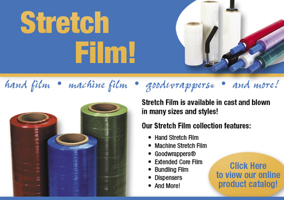 Click to order from our stock warehouse pallet wrap stretch wrapping bundling film