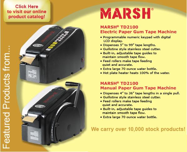 Marsh electric and manual tape machine dispenser