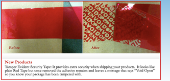 Security void pilfer tape
