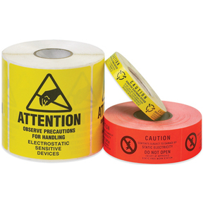 ESD static warning caution labels