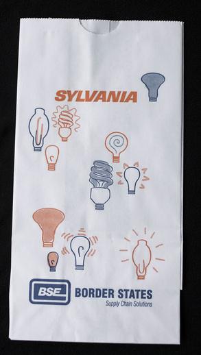 Logo printing on white paper bags