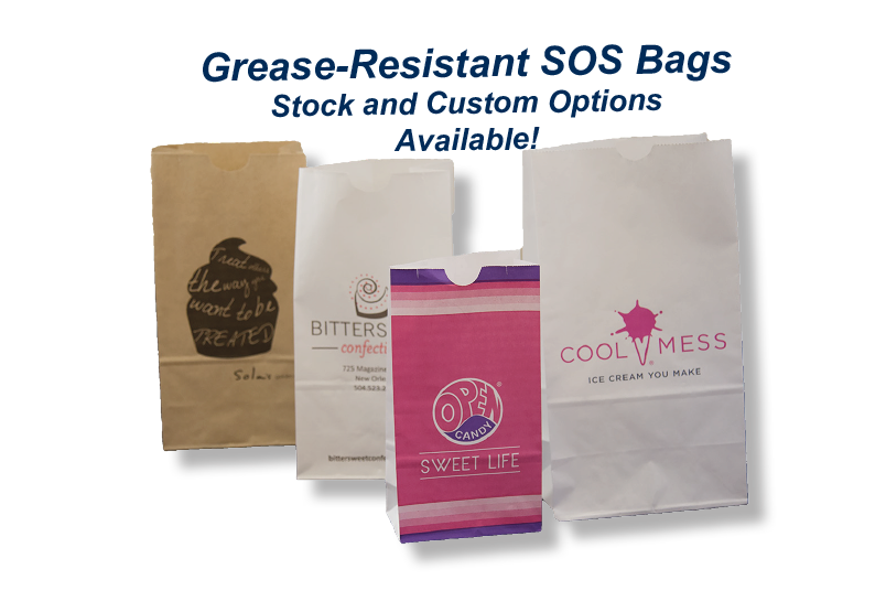 Grease resistant paper food bags