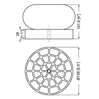 Pallet cushion spacer dimension