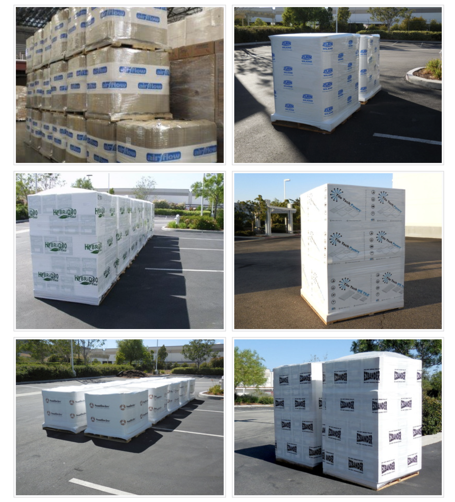 Printed pallet wrap stretch film printing with company name