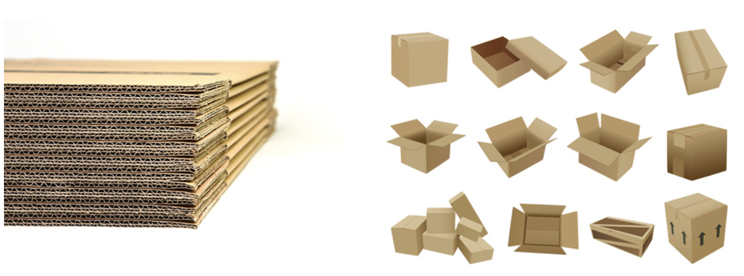 Milspec corrugated shipping boxes containers