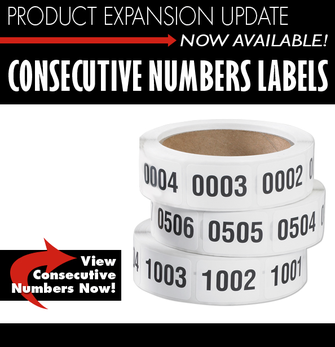 Consecutive numbers labels labeling