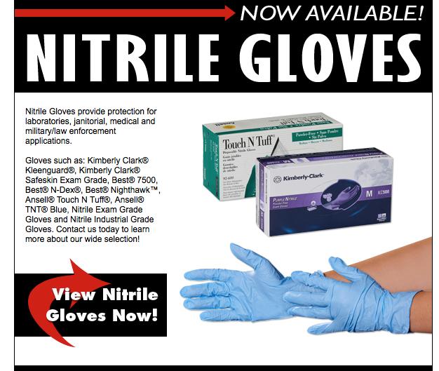 Blue nitrile disposable gloves