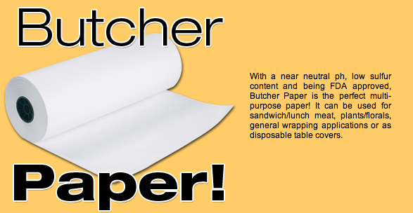 White butcher paper for meat deli rolls sheets
