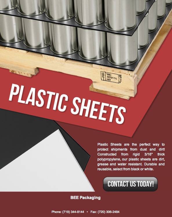 Use plastic corrugated sheets for signs or in the warehouse for product stacking on pallets