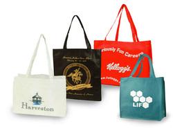 Custom logo printed trade show bags for convention expos