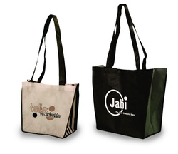 Company logo printed trade show carry bags with handles