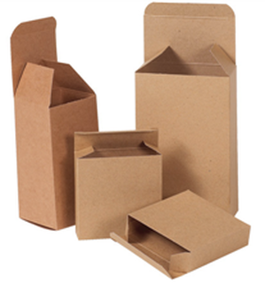 Reverse tuck end brown kraft folding cartons for parts