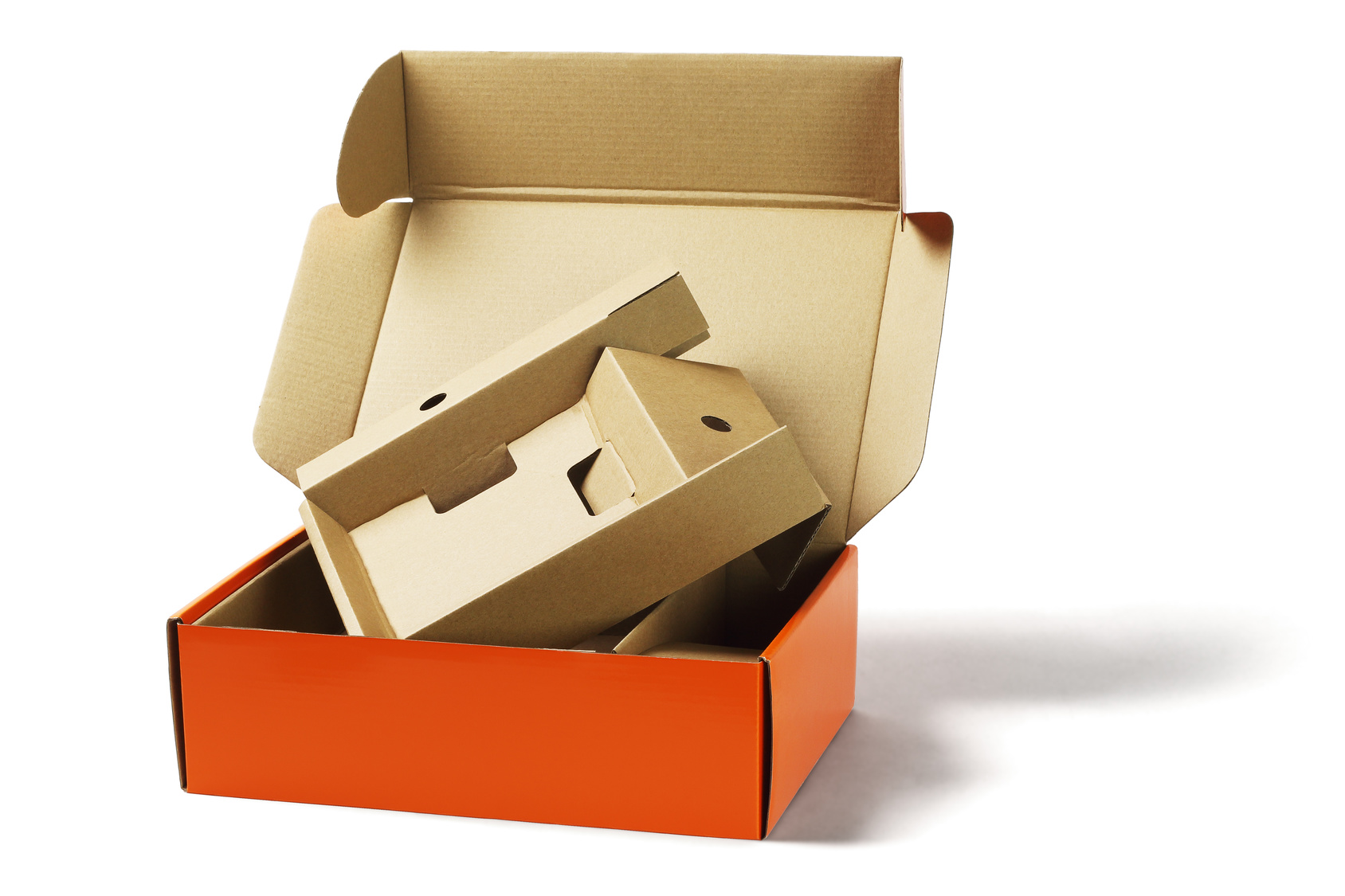 Custom printed boxes and die cut inserts inner corrugated packaging