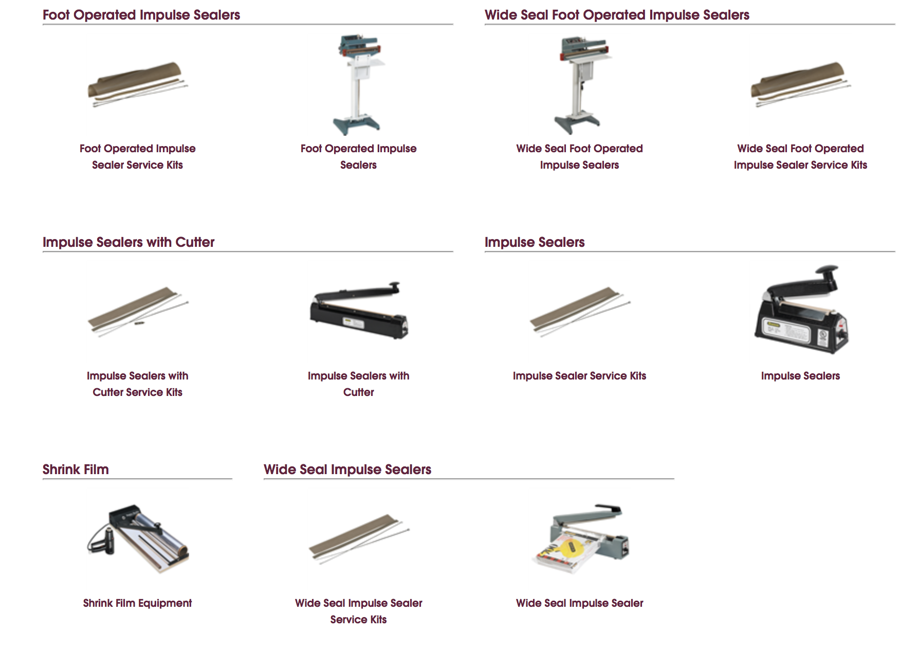 Click to shop our full line of heat sealers.
