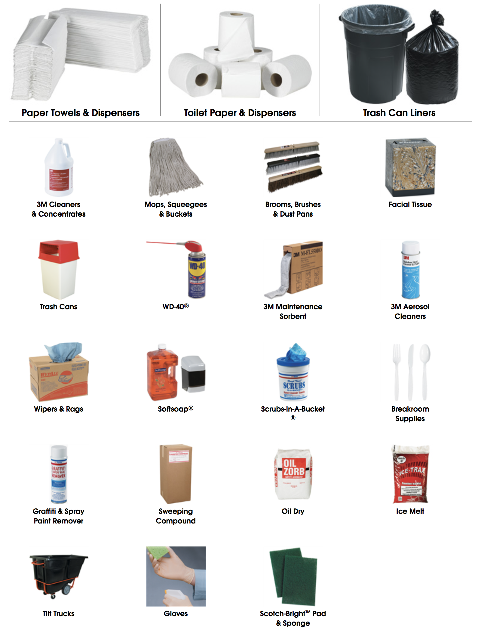 Click to shop for janitorial cleaning supplies from Big Valley Packaging