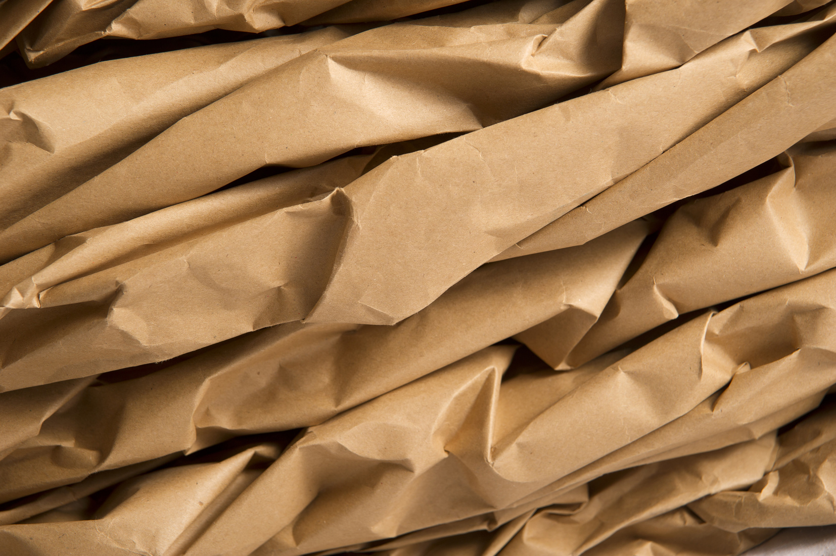 Natural brown kraft paper packaging sheets and rolls
