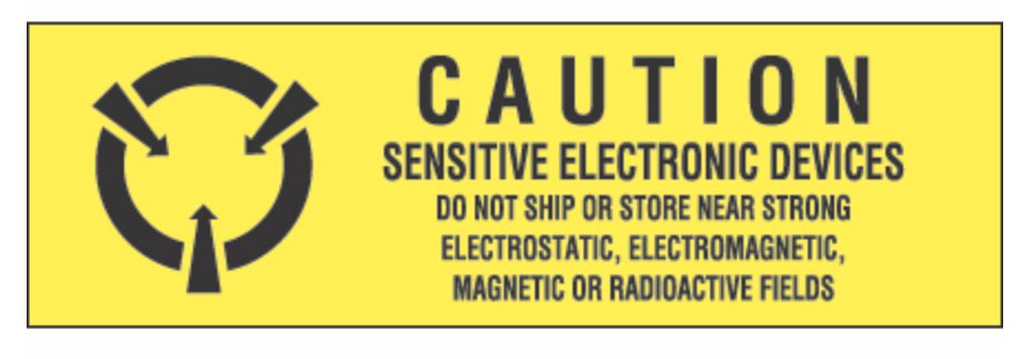 "5/8 x 2"" - ""Sensitive Electronic Devices"" Labels"