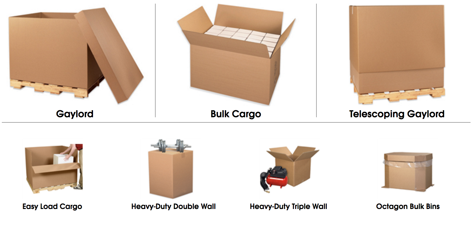 Gaylord boxes bins octagon heavy duty and triple walled boxes click to order