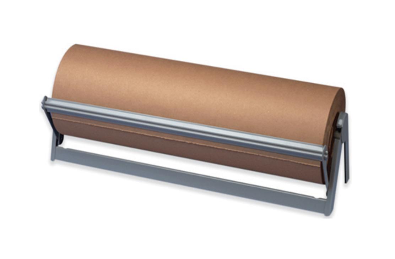 Paper cutter roll dispenser