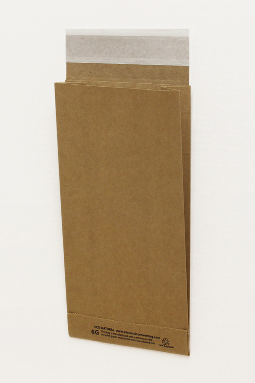 Eco-Natural 100% recycled kraft mailers with peel & stick tape