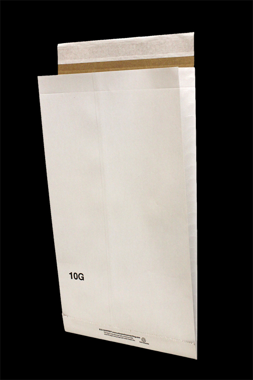 Eco-Shipper® recycled kraft mailers with peel and stick adhesive tape