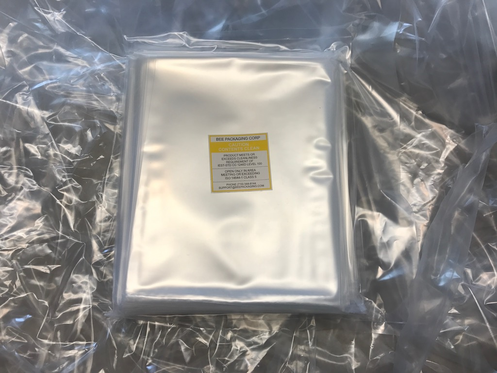 Cleanroom Bags - Class 100 Certified cleanroom bags poly tubing sheets